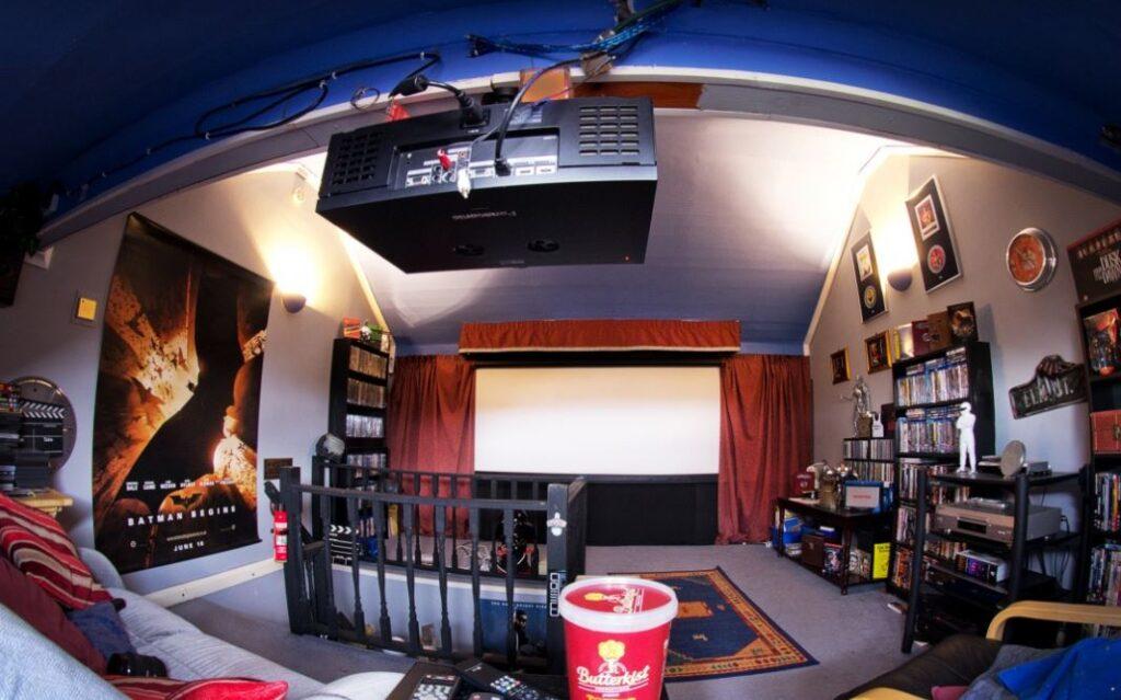 proyector de video para una habitacion oscura